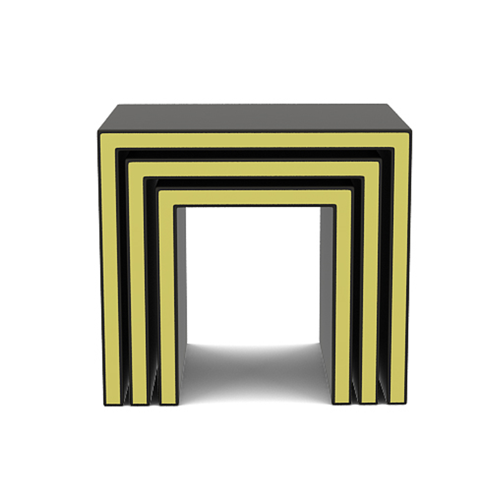 Gold band nested stool