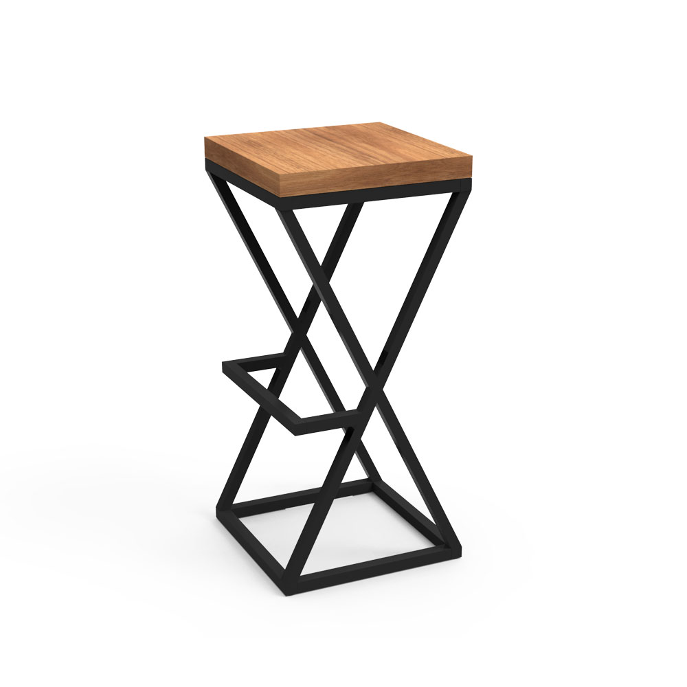 Saddle bar stool-Black