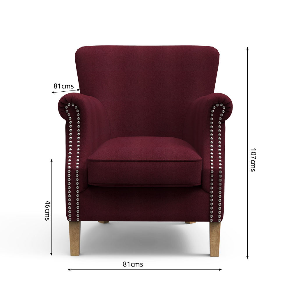 High Back chairs - Boysenberry  Accent Chairs  Rainforest Italy