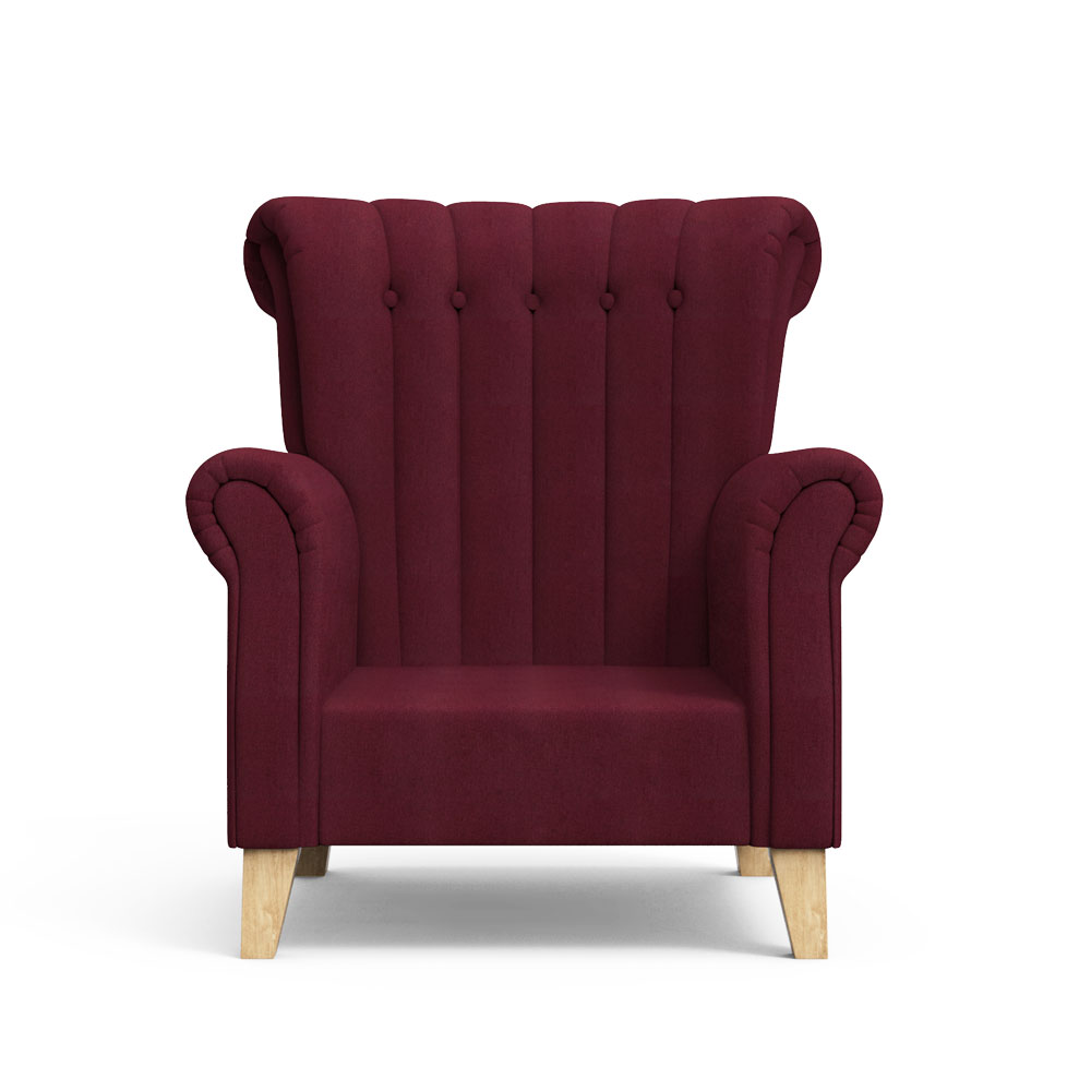 Brice Club Chair - Boysenberry