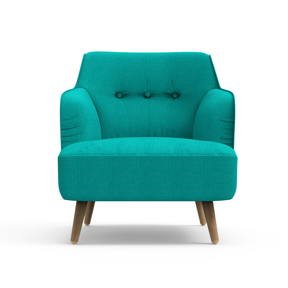 Haven Arm Chair-Blue