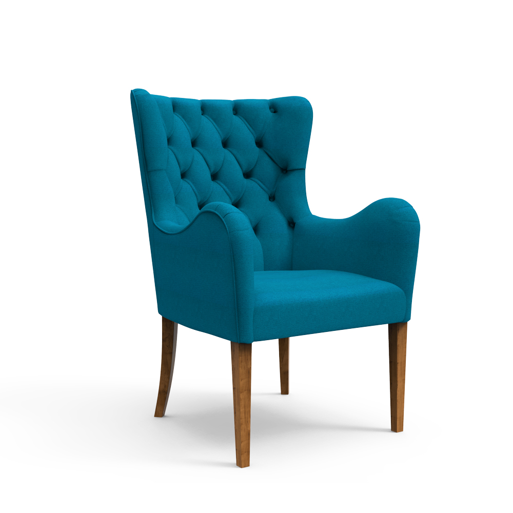 Laurel Armchair-Aegean Blue