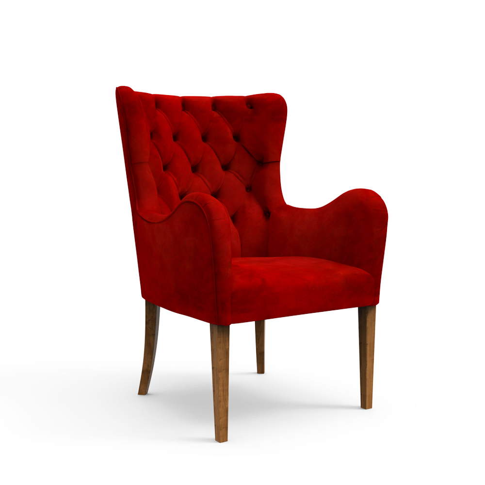 Laurel Armchair- Crimson Red