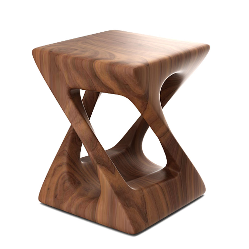 TWISTED 4 LEG END TABLE