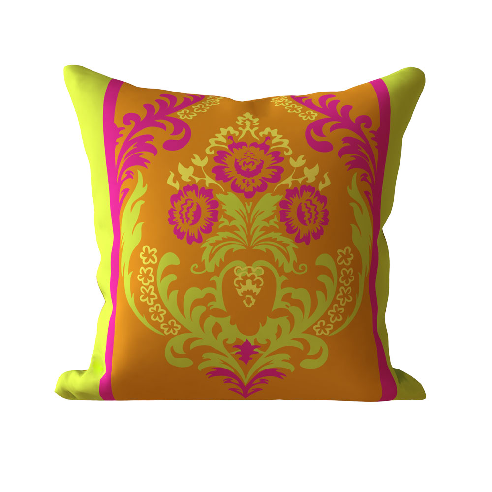 Designer 16 x 16 inch Temple Pink Cushion Cover-Set of 5