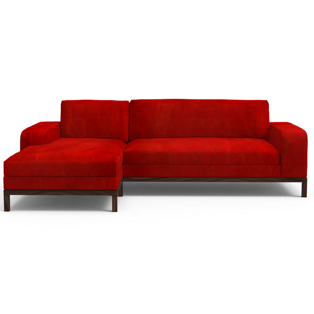 Doric Sectional Sofa - Scarlet Red