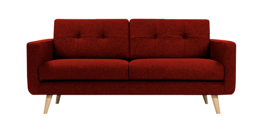 U sofa - Scarlet Red