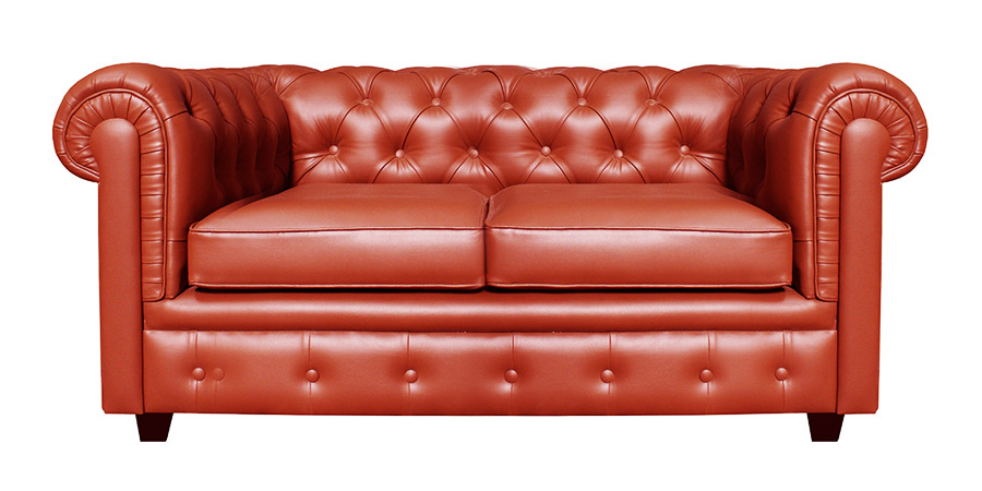 CHESTER SOFA - SCARLET RED