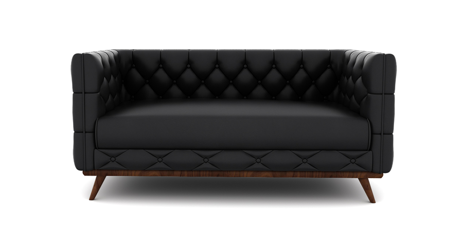 DIAMOND CHESTERFIELD - RAVEN BLACK