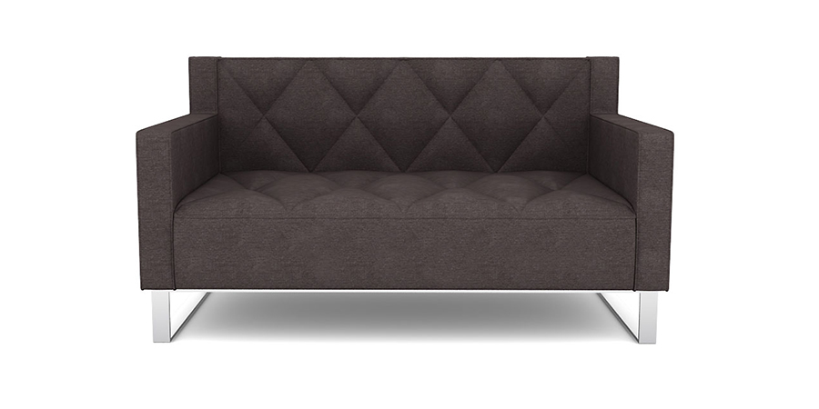 RF DIAMOND QUILT SOFA - CHARCOAL GREY