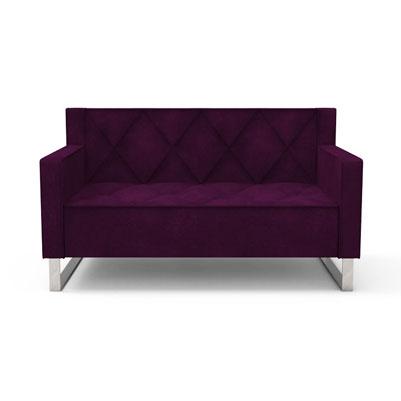 RF diamond quilt sofa-Violet