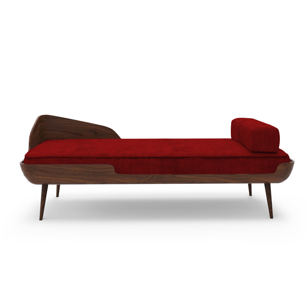 Collar Settee - Ruby Red