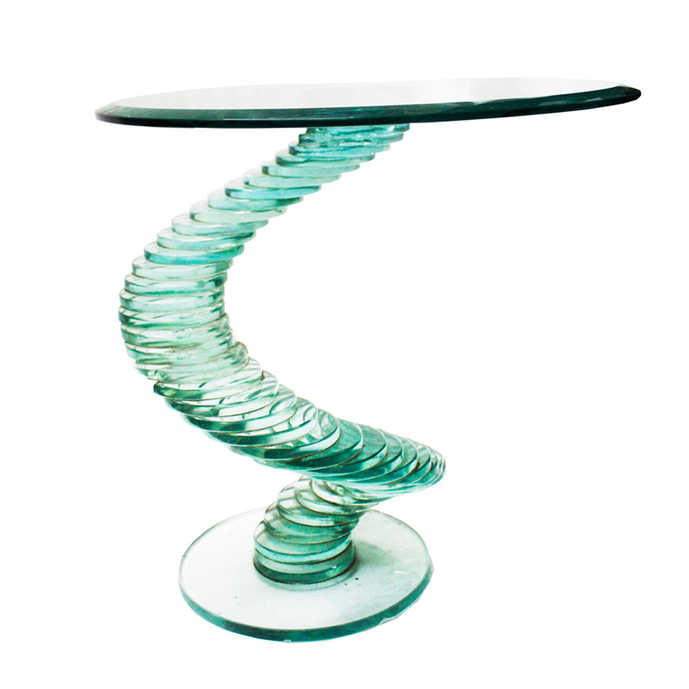 SPIRAL GLASS TABLE