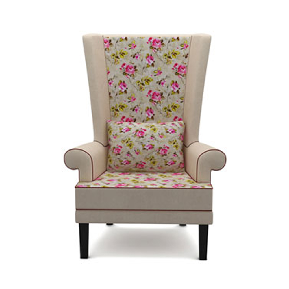 RAINFOREST FLORAL WINGBACK CHAIR