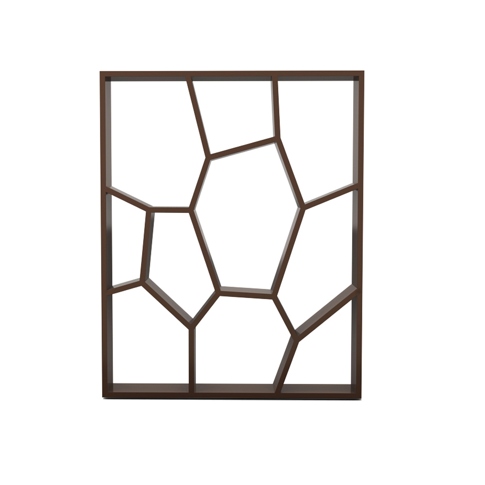 HONEYCOMB BOOKCASE - CHOCOLATE BROWN