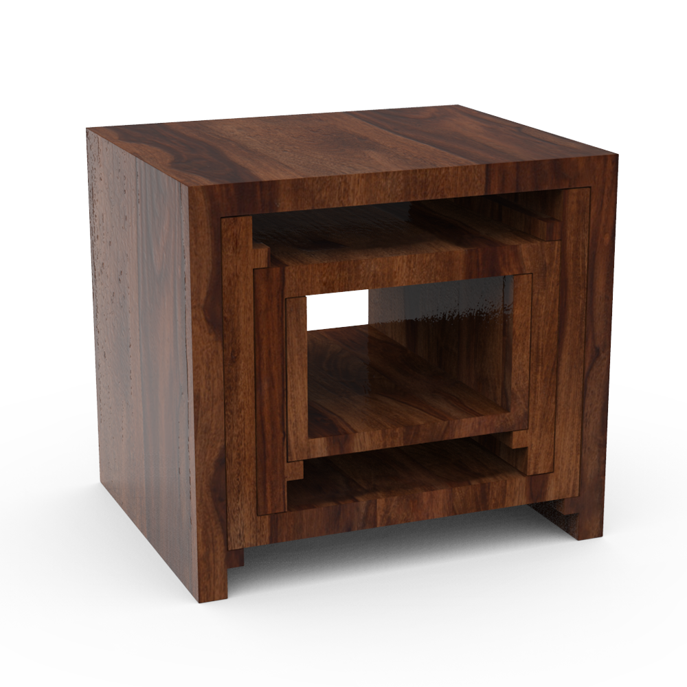 CLUBBED STOOL - RED CHESTNUT