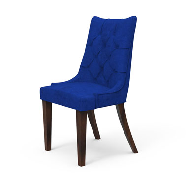 BAXTON TUFTED BACK CHAIR - BLUE