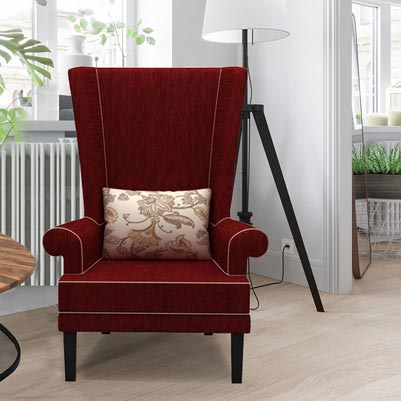 RAINFOREST WING BACK CHAIR - CRIMSON RED