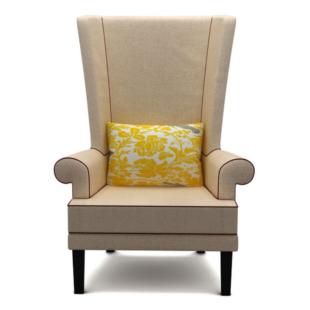 RAINFOREST WING BACK CHAIR - BEIGE