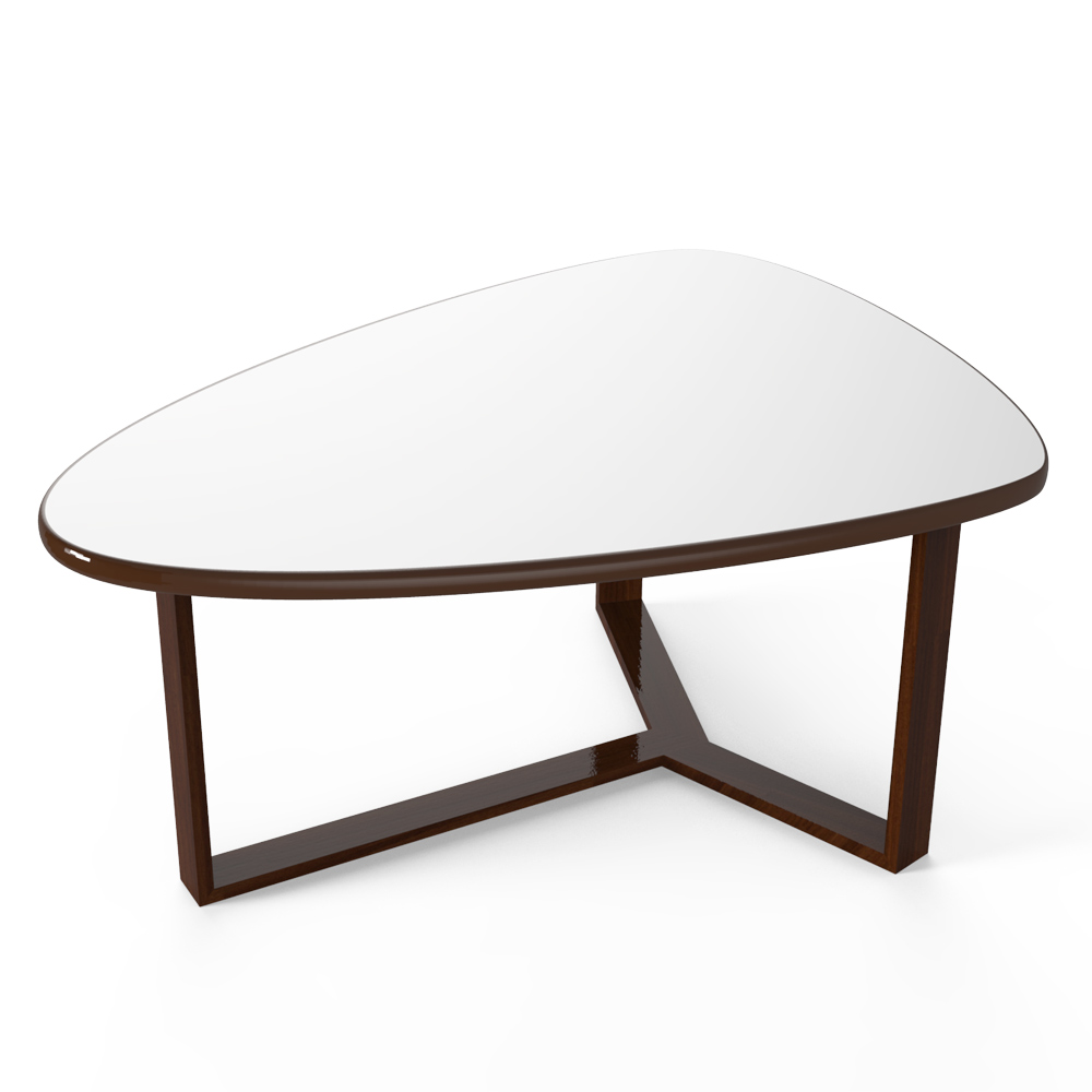 TRIO COFFEE TABLE - WHITE AND WENGE