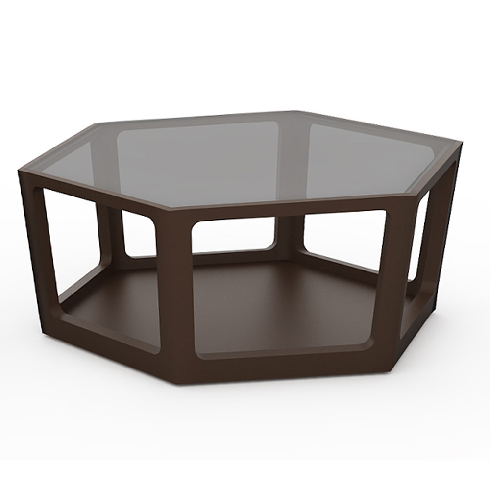 HEXAGON COFFEE TABLE - WENGE