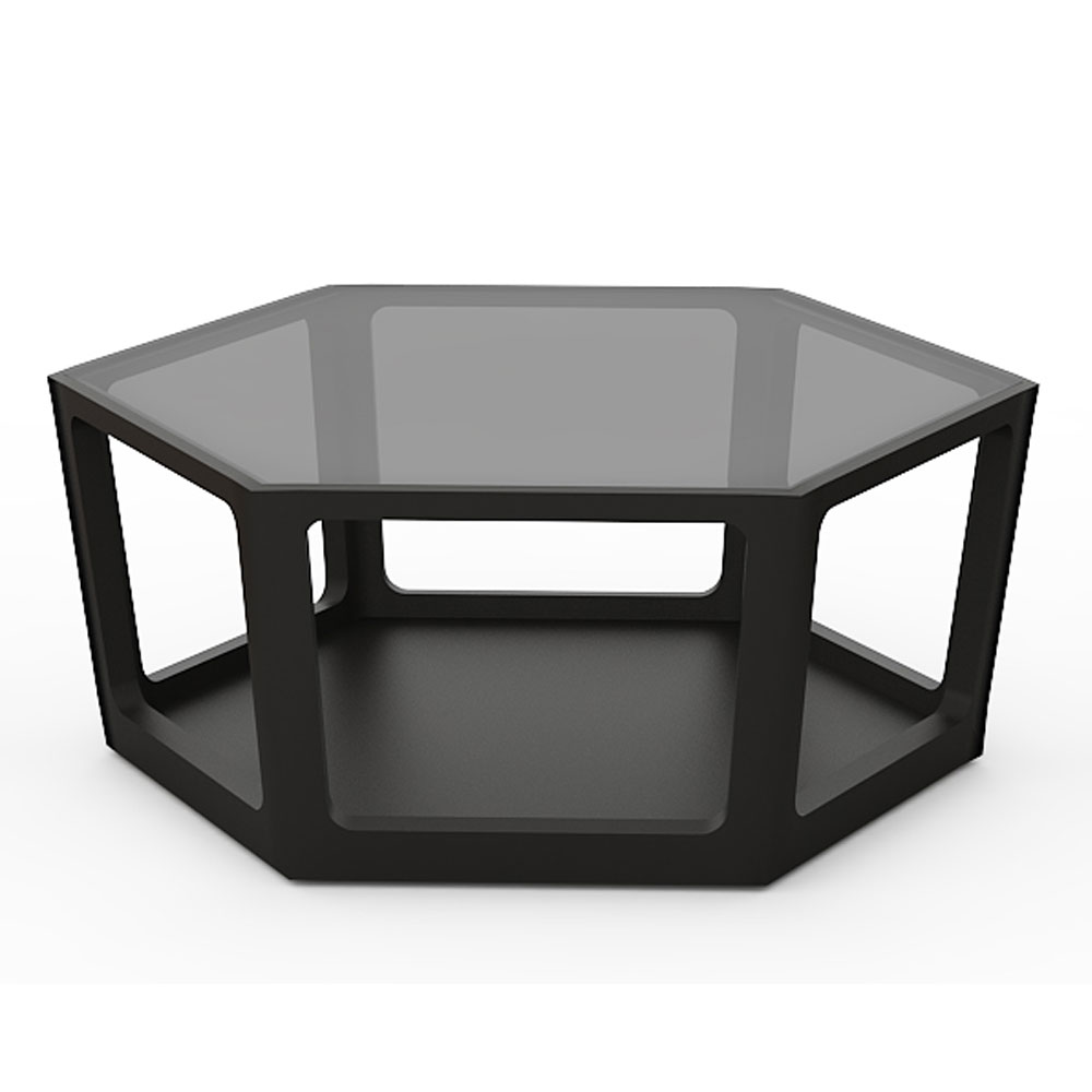 HEXAGON COFFEE TABLE - RAVEN BLACK