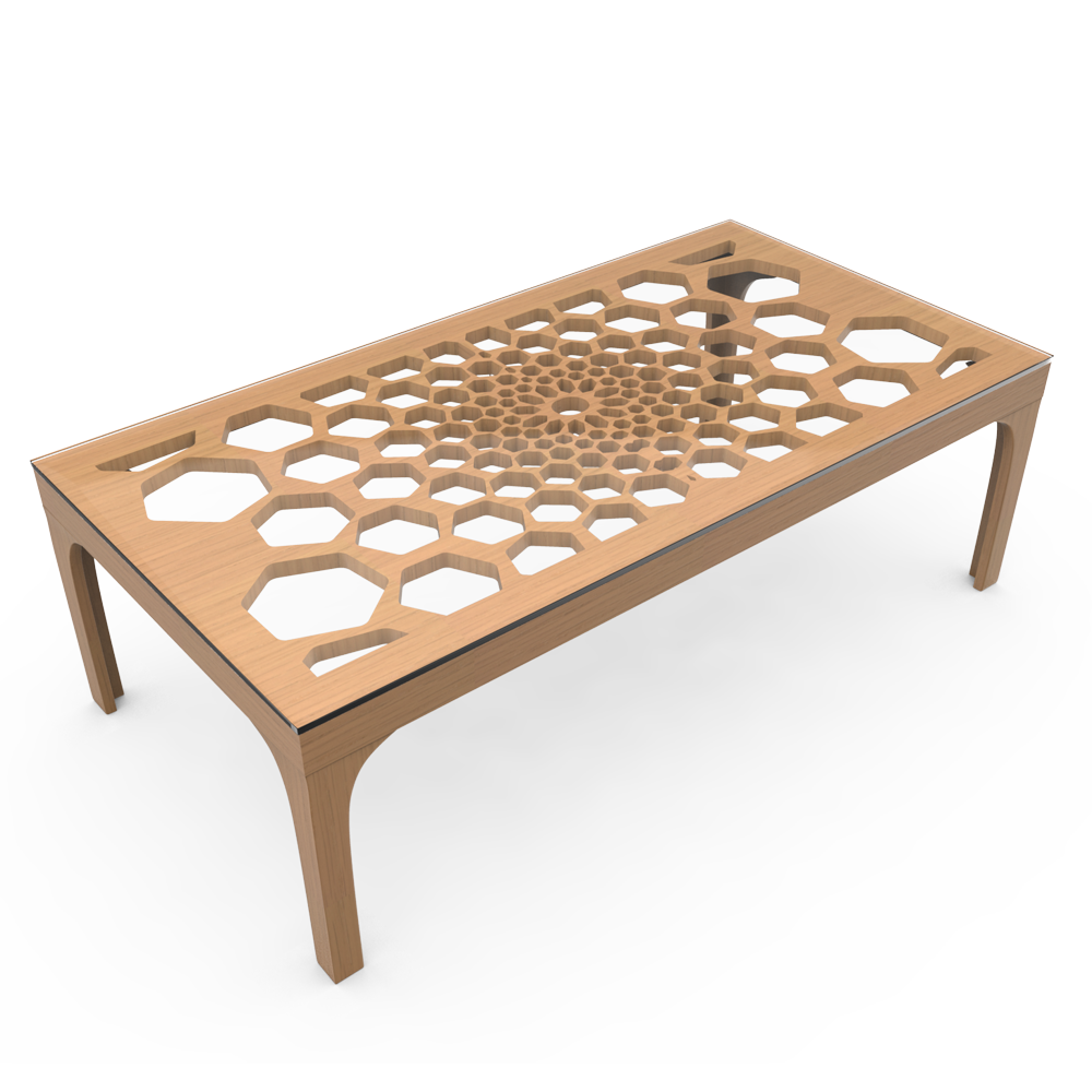 HONEYCOMB TABLE - EGGNOG NATURAL