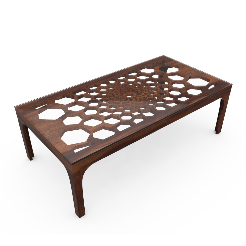 HONEYCOMB TABLE - NATURAL