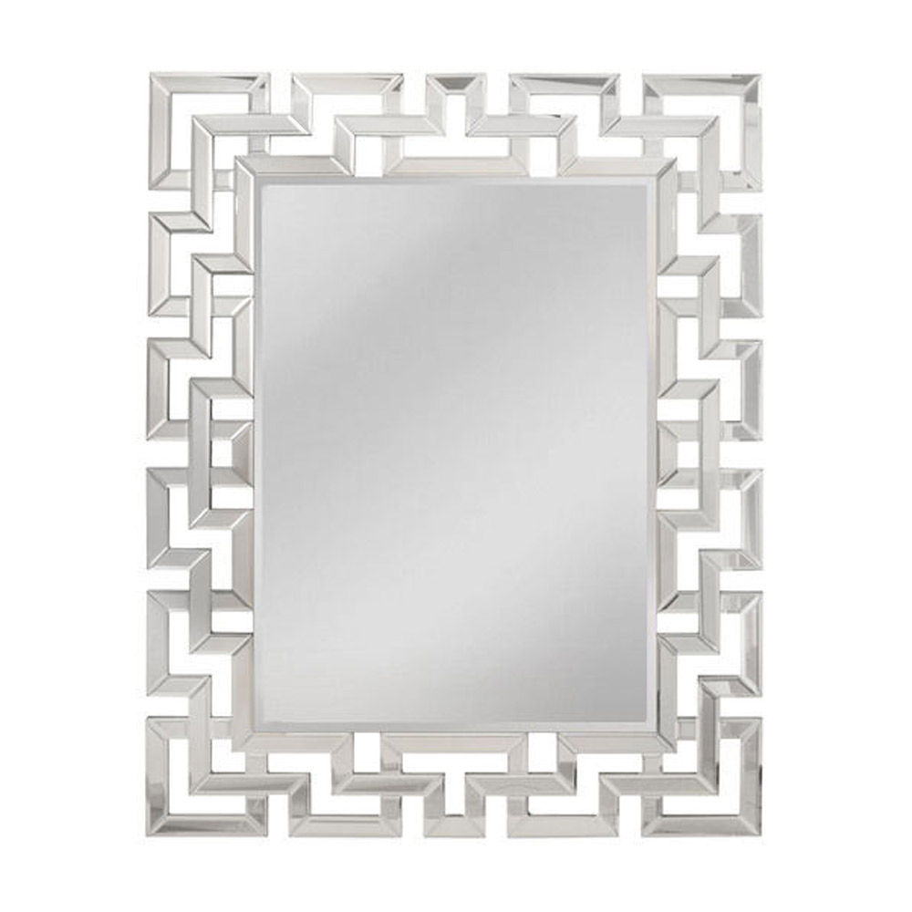 RAINFOREST RECTANGULAR LATTICE MIRROR