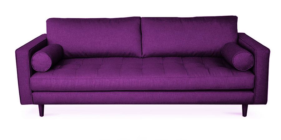 Seven Square Sofa - Purple
