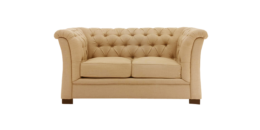 CURVE ARM TUFTED - BEIGE