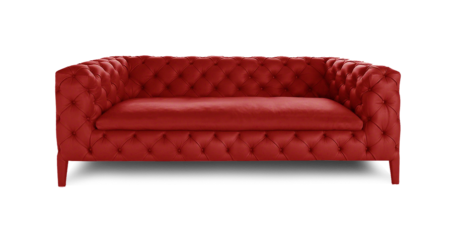 DUET CHESTERFIELD - SCARLET RED