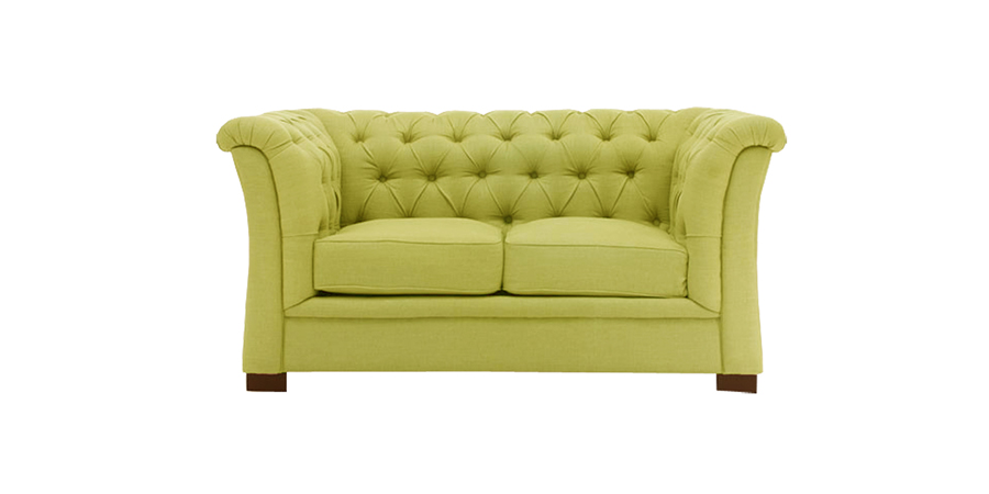 CURVE ARM TUFTED - LIME GREEN