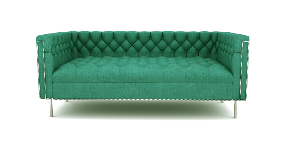 RAINFOREST REGAL SOFA - TURQUOISE