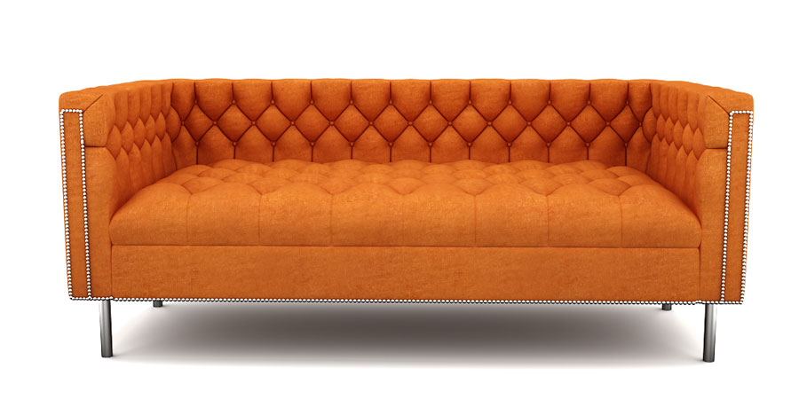 RAINFOREST REGAL SOFA - TANGERINE