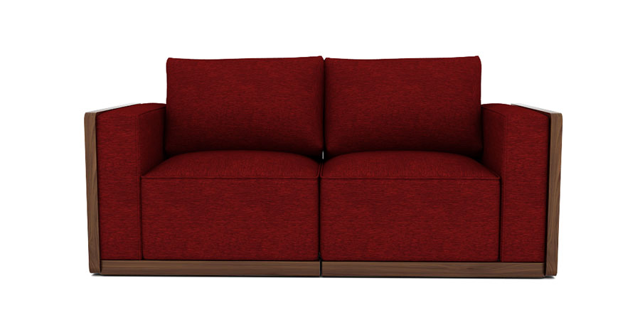 SPACE GRID SOFA - SCARLET RED