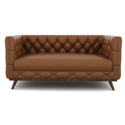 DIAMOND CHESTERFIELD - CHOCOLATE BROWN