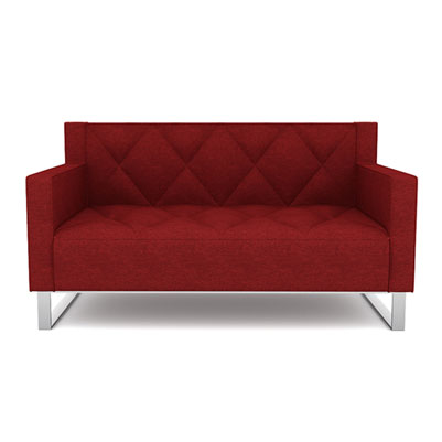 RF DIAMOND QUILT SOFA - SCARLET RED