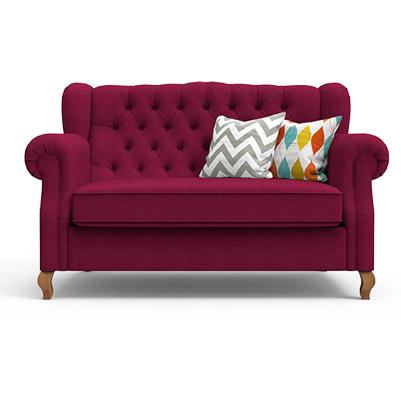 Classic Scroll Arm Sofa-Boysenberry