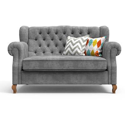 Classic Scroll Arm Sofa-Grey
