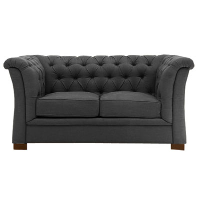 CURVE ARM TUFTED - GRAPHITE GREY
