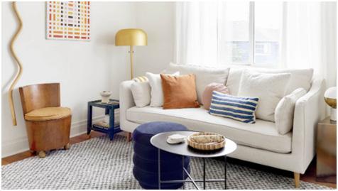 modern sofa set for living area