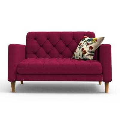 SANGOR Contemporary  Sofa - Boysenberry