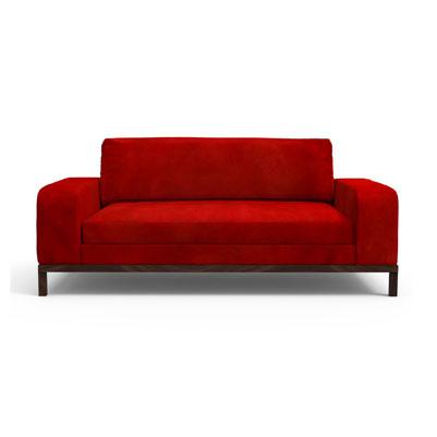 Doric Sofa - Scarlet Red