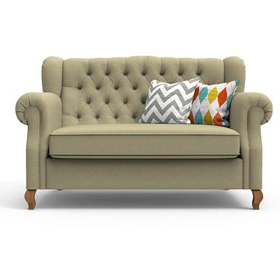 Classic Scroll Arm Sofa-Beige
