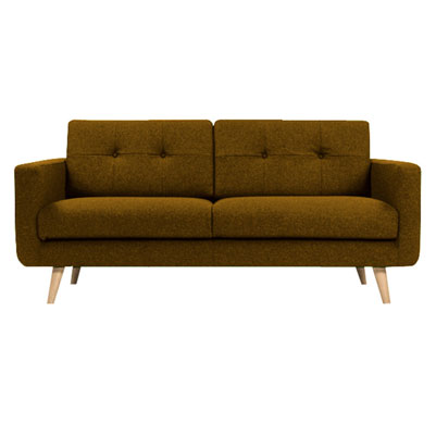U sofa - Camel Brown
